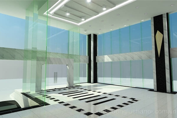 Không gian văn phòng rộng mở nhờ sử dụng cửa kính cường lực