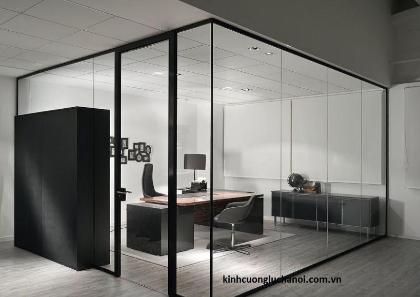 Thiết kế phòng họp với vách ngăn kính văn phòng